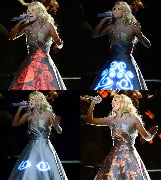 2013 Grammy Awards: Best and worst moments: Were not sure what the point of Carrie Underwoods light-up digital dress was -- but it totally made us Google Avatar sequel. So, theres that.   -- Carina Adly MacKenzie, Zap2it