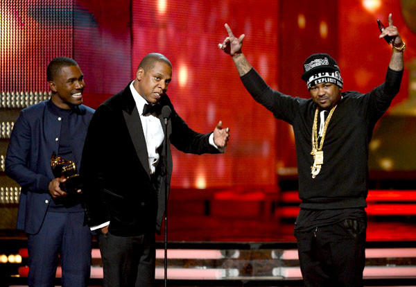 "Jay-Z, collecting his 17th trophy, only wanted to thank producer the Dream's choice of ballcap: ""I would like to thank the swap meet for his hat,"" the rapper joked about the ""Boyz N the Hood"" cap that the producer sported."