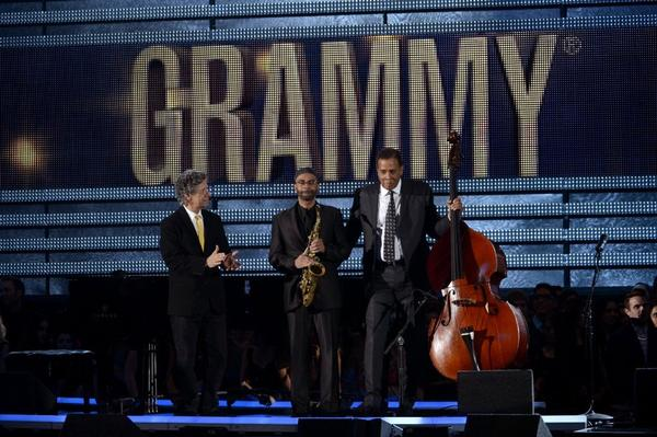 Chick Corea, Kenny Garrett and Stanley Clarke onstage at the 55th Annual GRAMMY Awards at Staples Center