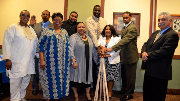 Newly sworn-in local NAACP board