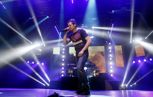 Brad Arnold of 3 Doors Down performs at the Sands Bethlehem Event Center in Bethlehem on February 10.