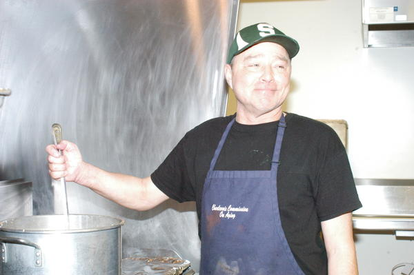 Brian Kovell has volunteered at the Boyne Area Senior Center for the past five years.