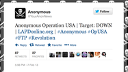 Anonymous says it hacked LAPD