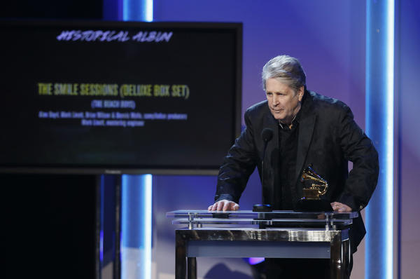 "Brian Wilson won a Grammy Award for historical album for the ""The Smile Sessions"" Beach Boys box set."