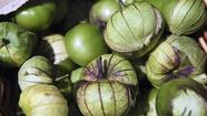 Fried green tomatillos