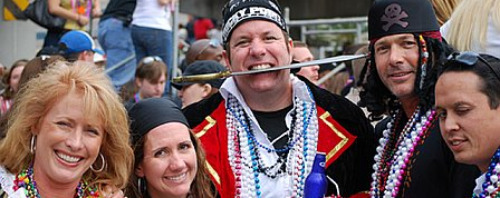 Pictures: Gasparilla festival in Tampa - Pirate revelers at the Gasparilla Festival