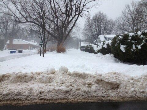 Areas of Middletown still needed to be cleared Monday.