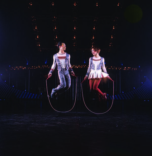 The traveling show Cirque du Soleil Quidam has been touring since its debut in 1996.