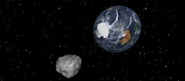 An asteroid is expected to pass closely by Earth on Friday, as shown in this NASA graphic.