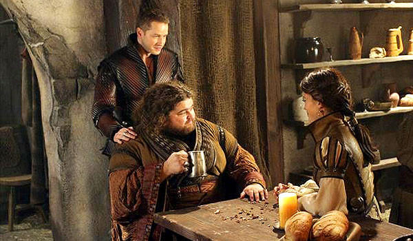 "Prince James, Anton the giant and Jacklyn in ""Once Upon A Time."""
