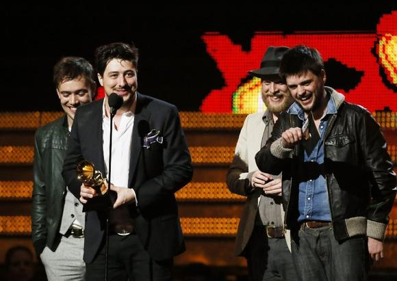 Grammys 2013: Big TV ratings as Mumford & Sons win album prize