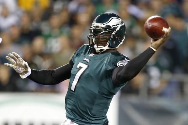 Philadelphia quarterback Michael Vick struggled with injuries and inconsistency in 2012.