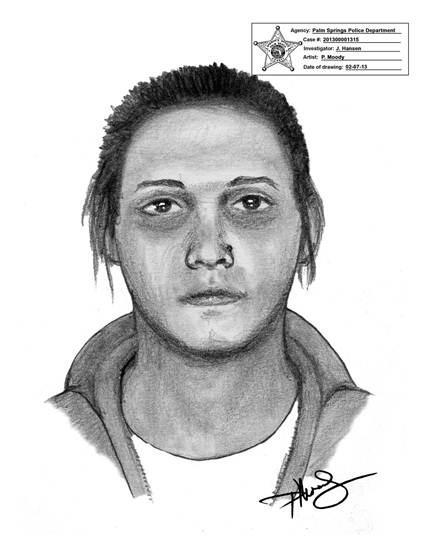 Palm Springs police released a sketch of a woman wanted in connection with a January 18, 2013 home invasion in which a Yorkshire Terrier dog was stolen.