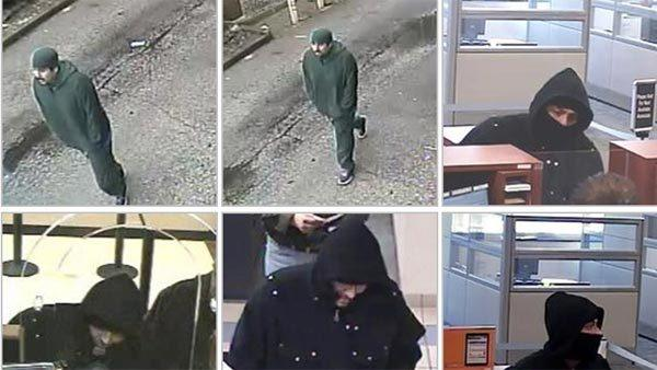 "Man suspected as the ""Bully Bandit"" who is wanted in eight bank robberies."