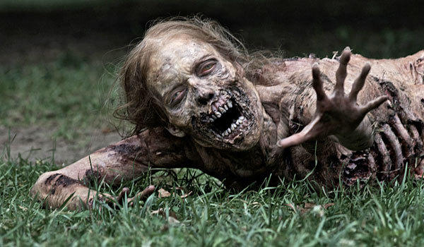 A zombie from the first episode of 'The Walking Dead'