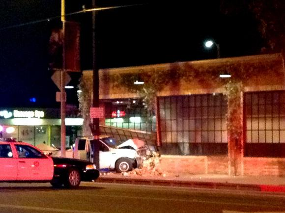 Yikes: Truck crashes into Wurstkuche in Venice