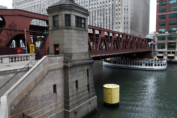 The Wells Street bridge in Chicago over the Chicago River was closed Monday Nov. 5, 2012 for a reconstruction project that is slated to last one year.