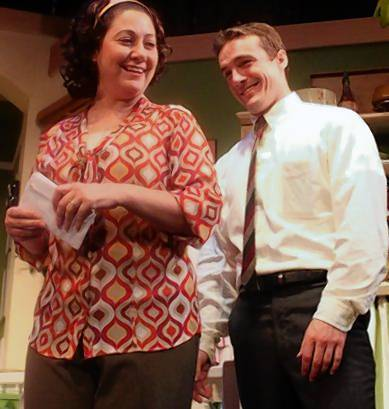 "From left, Mariah Lester and Ryan Smith, show her in a previous Bay Street Players production of 'Wait Until Dark,"" appear together again in the new production of ""Hate Mail."""