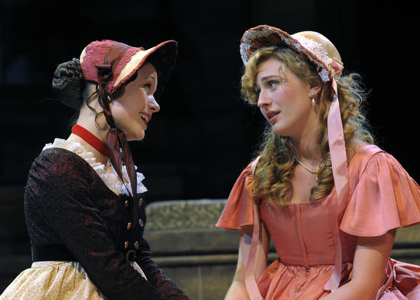 "Lindsey Kyler (Elinor) and Piper Rae Patterson (Marianne) star in ""Sense and Sensibility"" from Orlando Shakespeare Theater."
