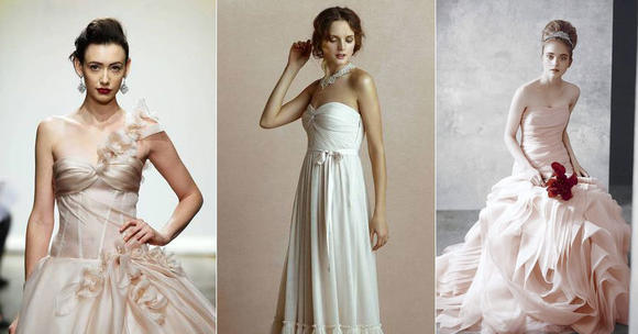 Blushing bridal dresses