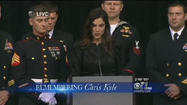 SEAL sniper Chris Kyle gets public farewell at Cowboys Stadium