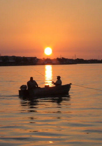 Fishing at sunset in the Keys.