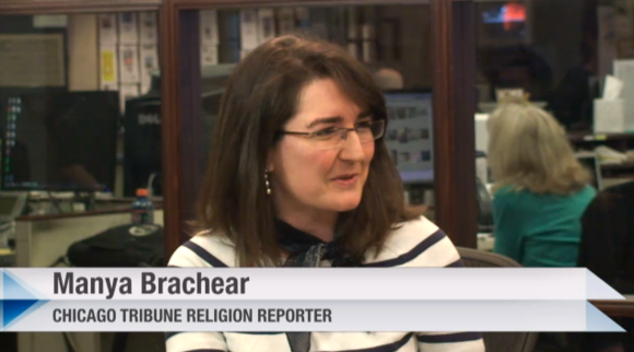 Manya Brachear talks about the papal resignation in a live webcast from the Chicago Tribune newsroom.