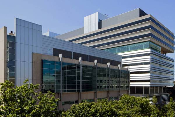 Exterior view of the University of Chicago's Center for Care and Discovery.