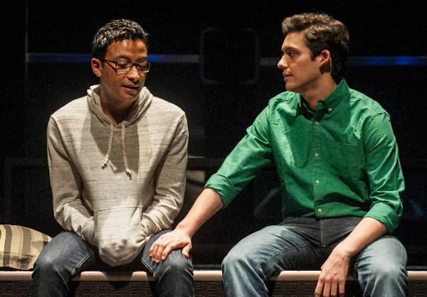 "Adam Poss (Drew) and Liam Benzvi (Gabe) in ""Teddy Ferrara,"" at Goodman Theatre."