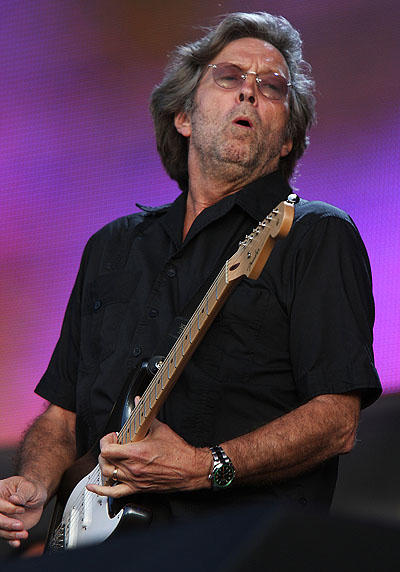 """Clapton is God,"" or so the phrase goes.  Guitarist Eric ""Slowhand"" Clapton turns 67 today. (Photo by Mark Allan/WireImage)"