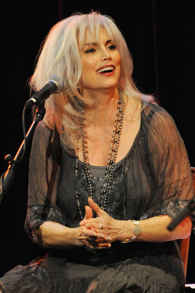 Few people can rock the silver-haired look like she can. Country music legend Emmylou Harris is 63 today. (Photo by Jamie McCarthy/WireImage for Country Music Hall of Fame)