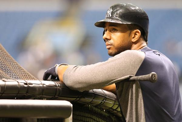 The outfielder, 30, signed a minor league deal with the Orioles last month. He played in just 25 games for the New York Yankees last year, batting .286 with two homers and five RBIs in 17 plate appearances.