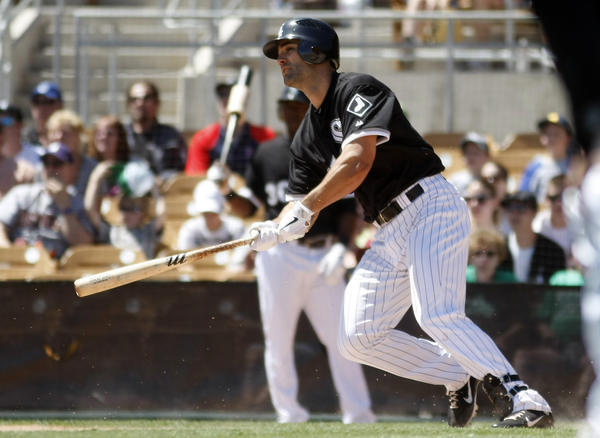 Not the big name fans hoped to come out of the winter meetings, the 30-year-old outfielder-first baseman was a first-round draft pick of the Arizona Diamondbacks in 2003. Now, he's on a minor league deal after spending all of last year with the Chicago White Sox's Triple-A affiliate.
