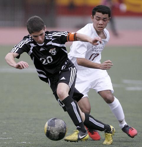 ARCHIVE PHOTO: South Pasadena's Zack Dunn (left).