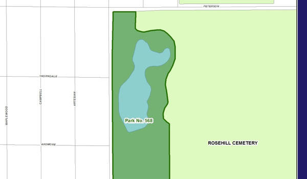 Site of the proposed West Ridge Nature Preserve. Handout