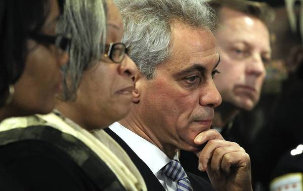 Mayor Rahm Emanuel joined Cook County State's Attorney Anita Alvarez and police Superintendent Garry McCarthy on Monday in calling for tougher penalties and stricter sentencing guidelines for gun crimes.