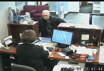 Suspect in the robbery of a Niles bank.
