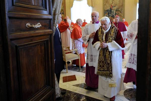 Pope Benedict XVI said he would step down Feb. 28. Vatican officials said a new pope would probably be installed by Easter, which falls on March 31.