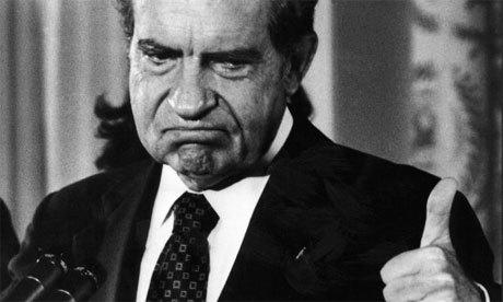 "In his final State of the Union address, Nixon called for an end to the Watergate investigations.  ""One year of Watergate is enough,"" Nixon declared.  He would resign over the scandal seven months later.  <a href=""http://youtu.be/yAFZb5NZpCw"">Watch the entire 1974 address here.</a>"