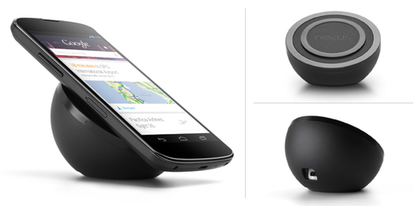 Google this week began selling a $60 wireless charger for the Nexus 4 on Google Play.