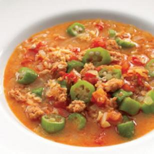 Healthy Sausage gumbo recipe from Eatinghealthy.com