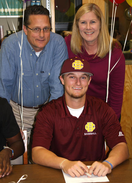 Lake Brantley High School athlete Logan Blum signs to play baseball at Bethune-Cookman University.
