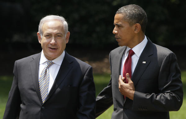 President Obama talks with Israeli Prime Minister Benjamin Netanyahu outside the Oval Office in 2010. With Obama planning his first trip to Israel this spring, Israelis are vying to get his attention on a variety of topics.