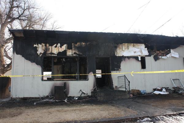 Fire destroyed a rental home in Sturgis Monday night. Fire crews were sent back to the home early Tuesday morning after the fire came back to life.