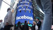 The Nasdaq board in Times Square advertises Facebook which is set to debut on the Nasdaq Stock Market today on May 18, 2012 in New York.
