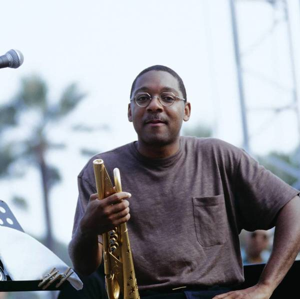 "Wynton Marsalis on stage at the Jazz A Juan Festival held in Antibes, France in July 1997, the year he released ""Blood on the Fields,"" the first jazz composition to win the Pulitzer Prize in Music."