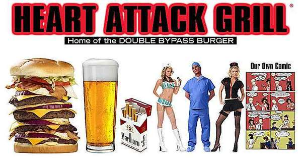 The Heart Attack Grill chain is known for its high-calorie menu.