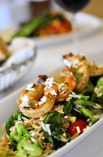 Grilled shrimp Mediterranean