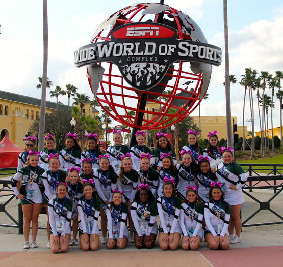 The Costa Mesa High cheerleaders earned sixth place for their division in the world and sixth in nation at the National High School Cheerleaders Championship in Orlando, Fla.