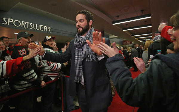 Blackhawks forward Brandon Bollig is one of dozens of current and former athletes who will hang out with you, provided you have the cash.